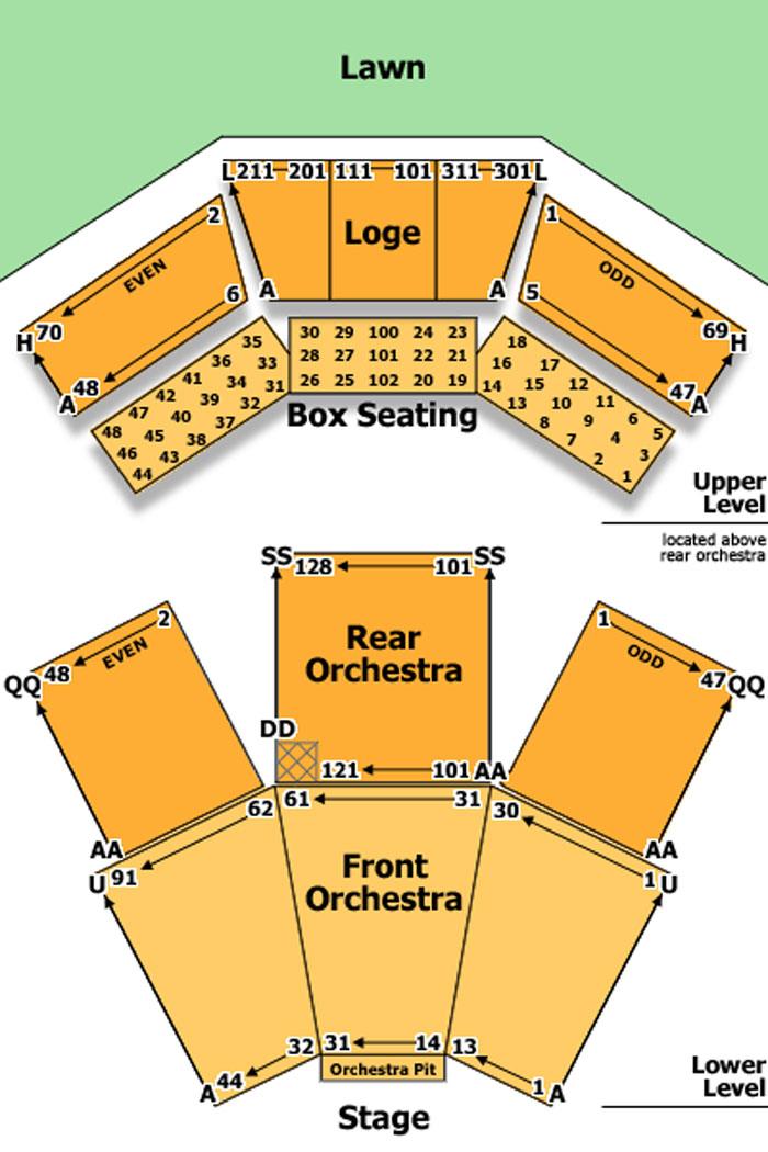 Filene Center Seating Chart