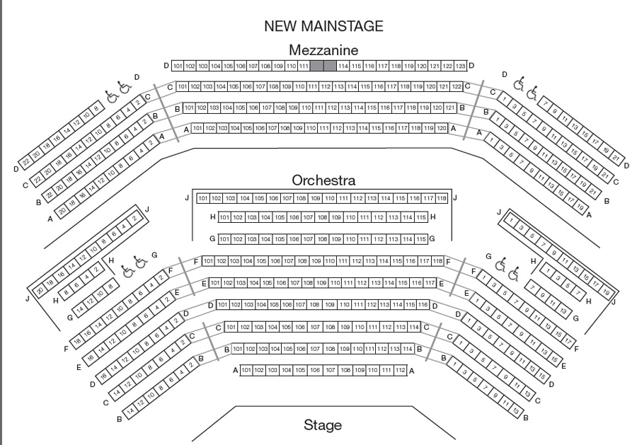 Olney Theatre Mainstage Seating Chart