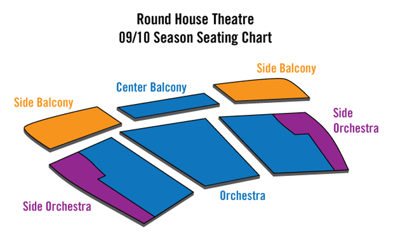 Round House Theatre Seating Chart
